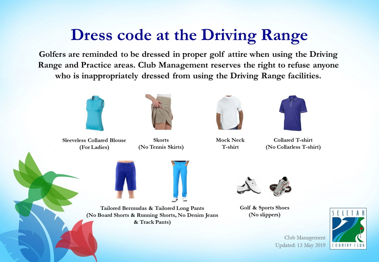 Driving Range_dress code