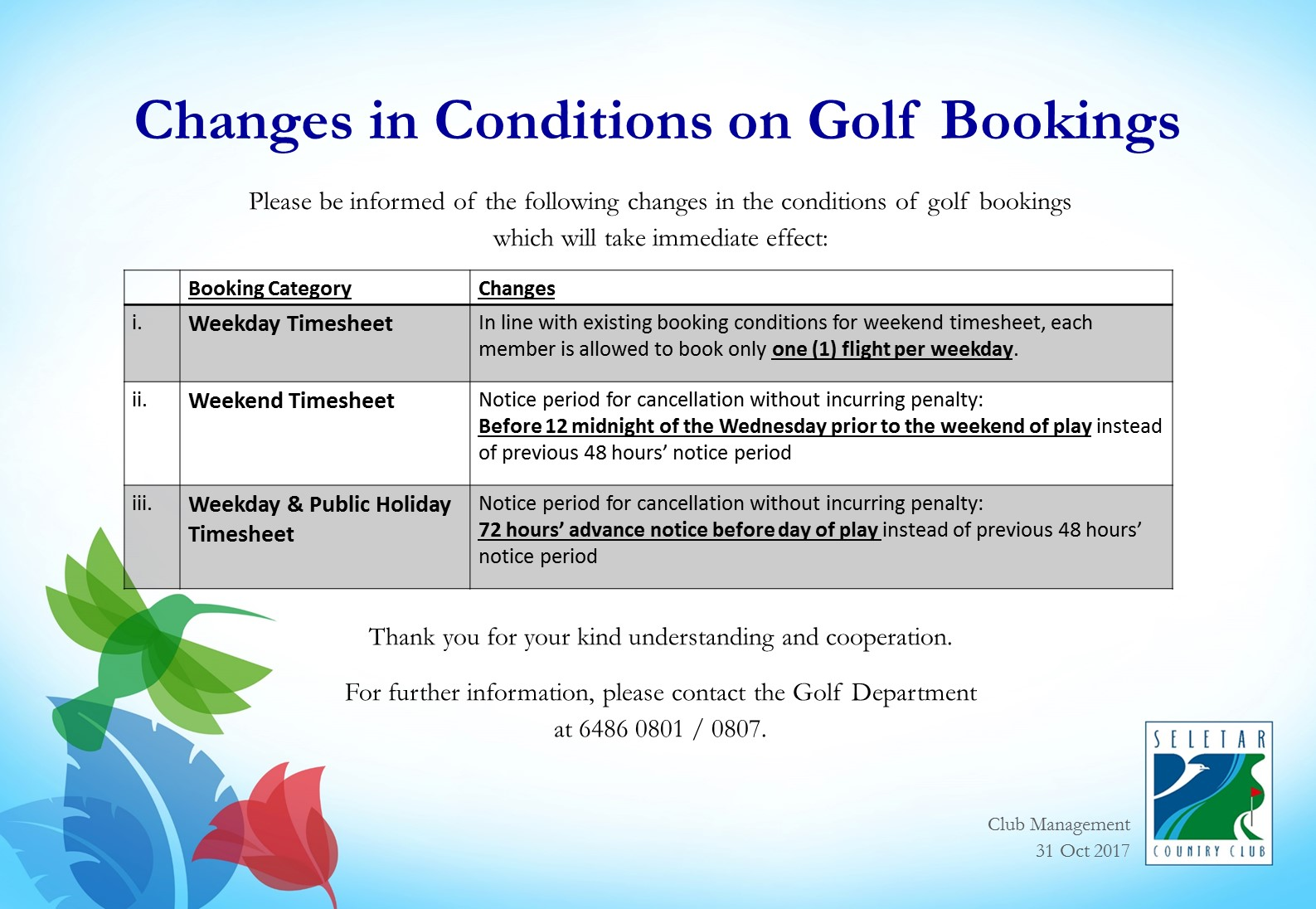 Changes in Timesheet booking conditions