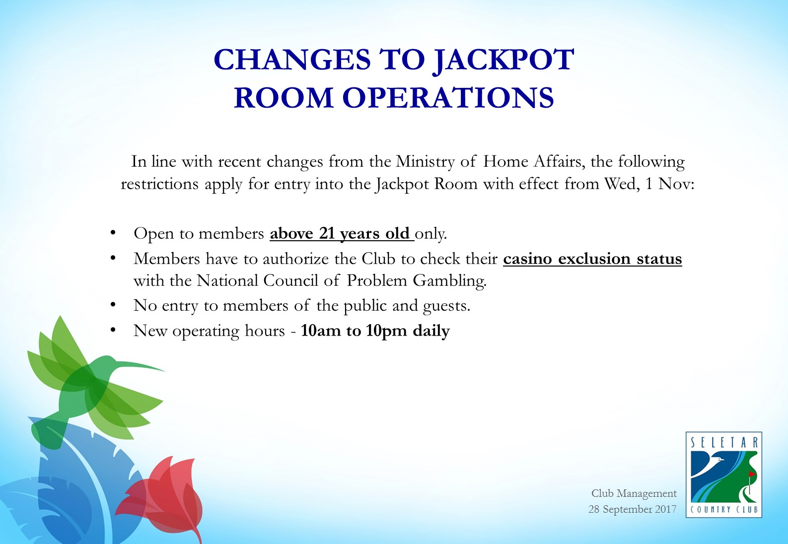 Changes to Jackpot Room Operations_R2