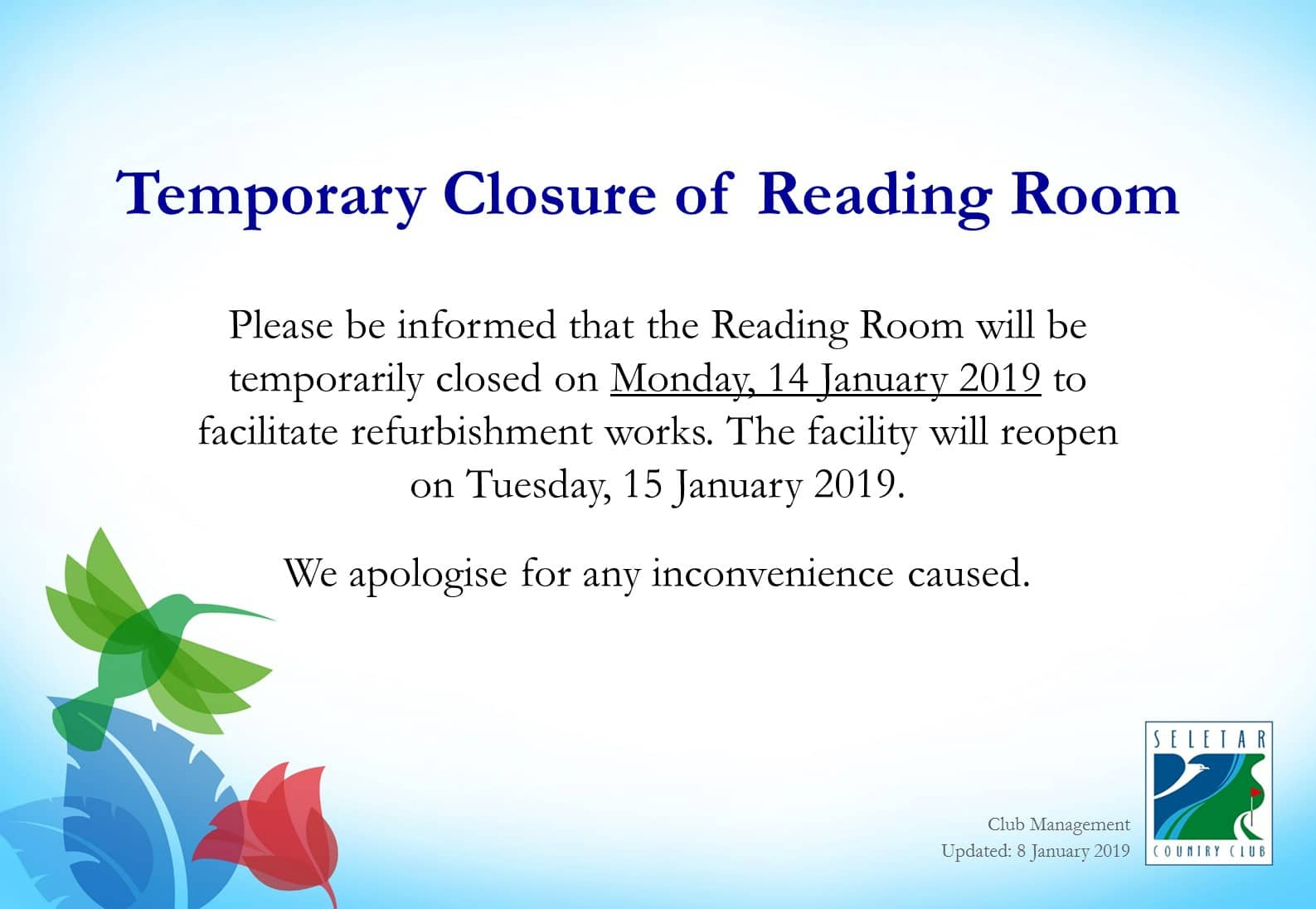 Temporary Closure of Reading Room_updated