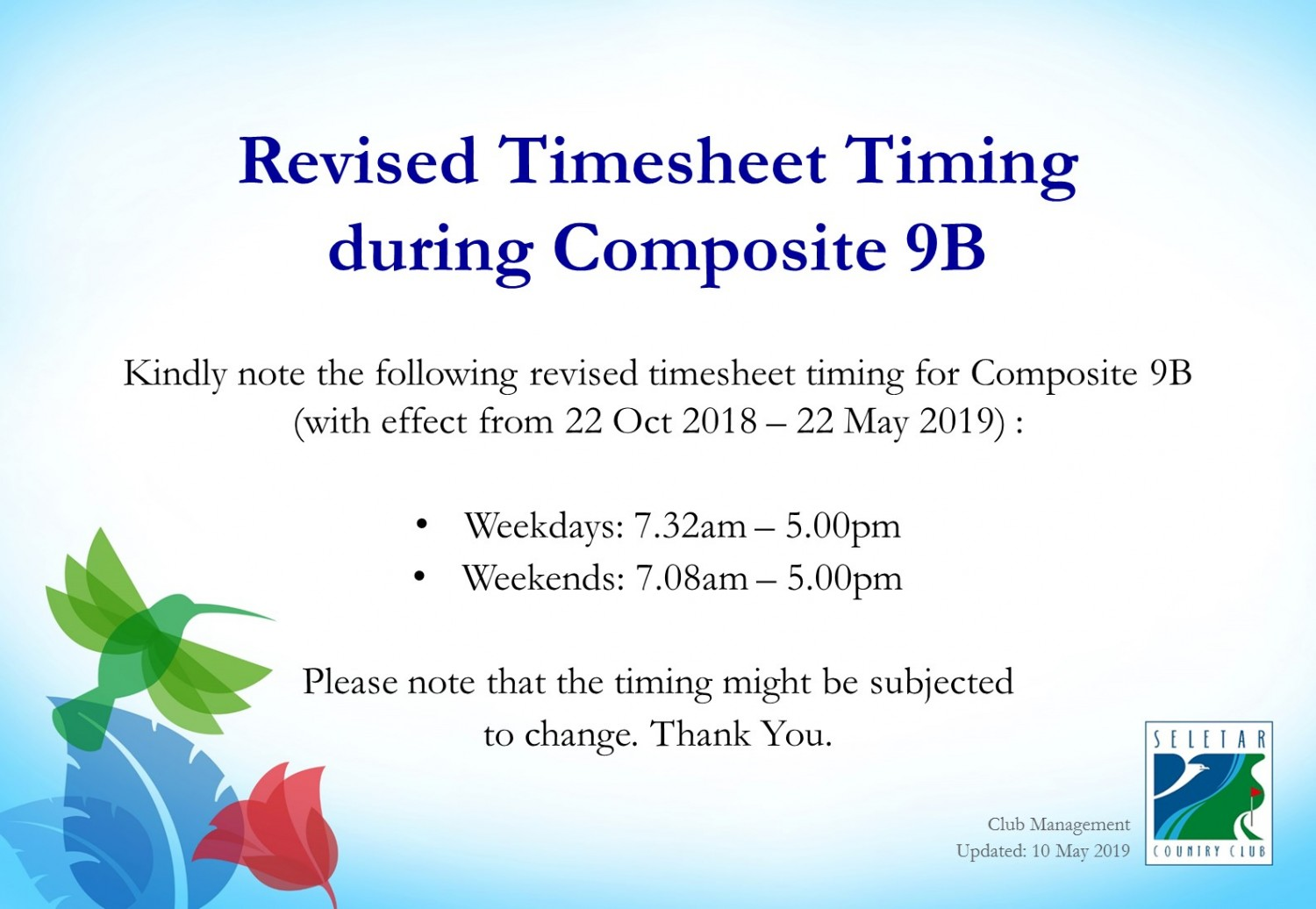 Composite 9B_Revised Timesheet Booking_updated10May2019V1