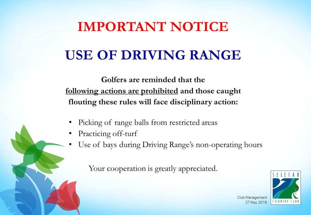 Driving Range_Prohibited actions