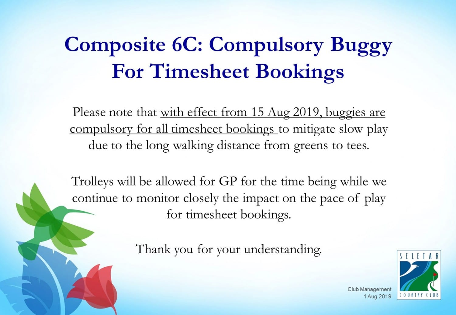 Compulsory buggy for timesheet booking - composite 6c