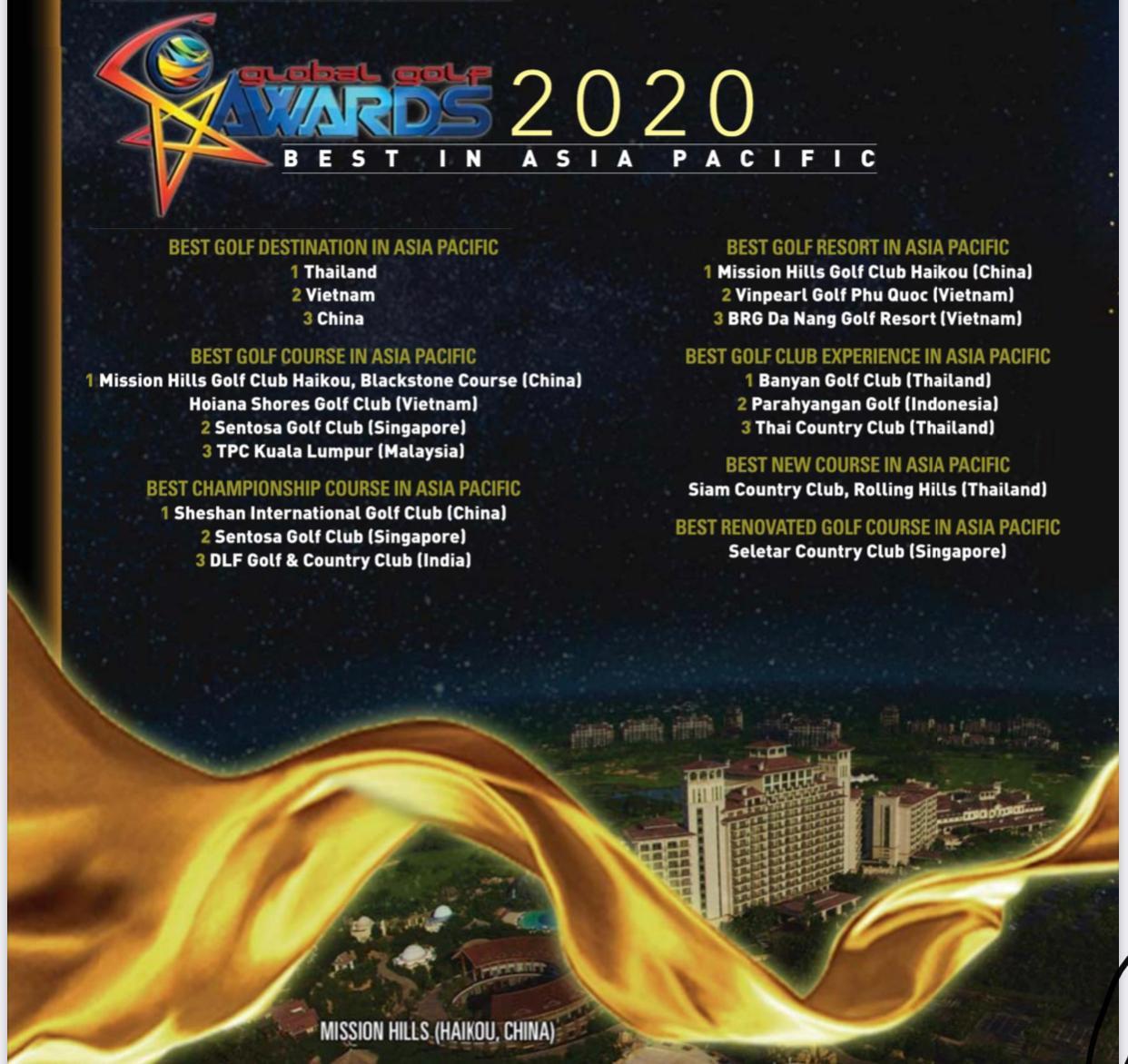 global golf awards 2020