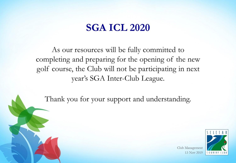 SGA ICL 2020