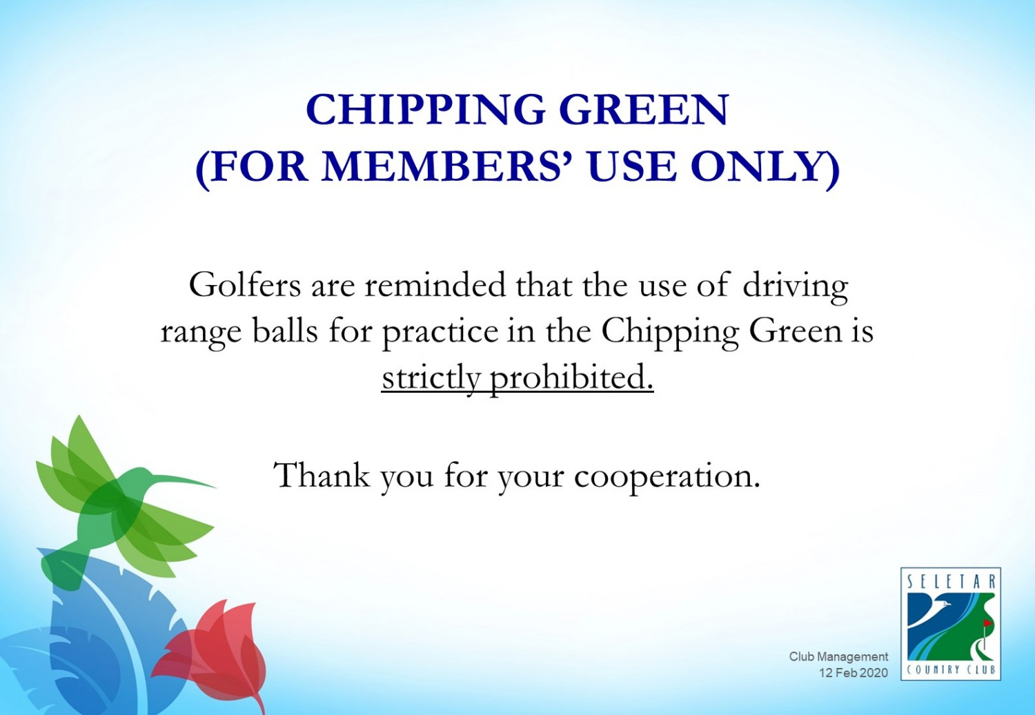 Use of Chipping Green
