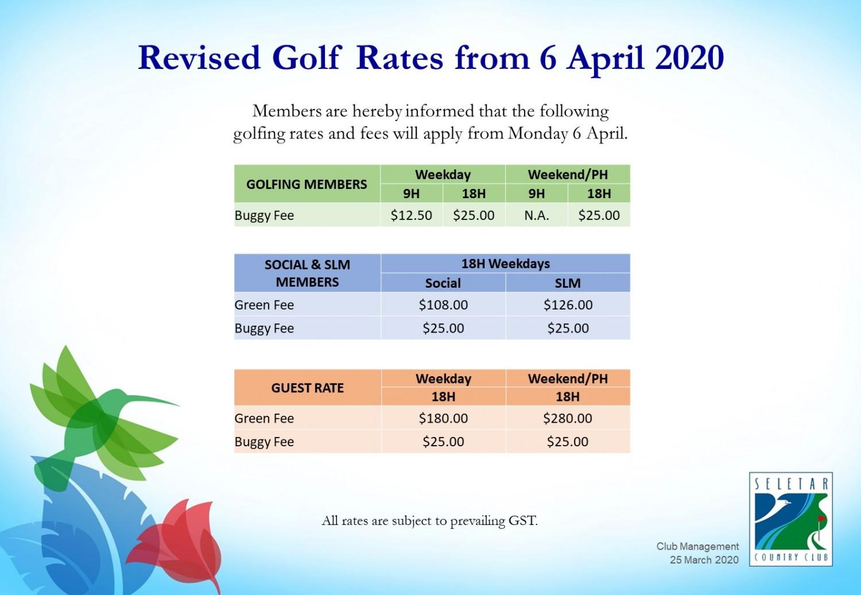 20200306_New golf rates 6 April 2020