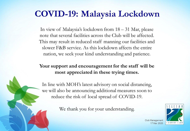 Covid-19 malaysia lockdowm