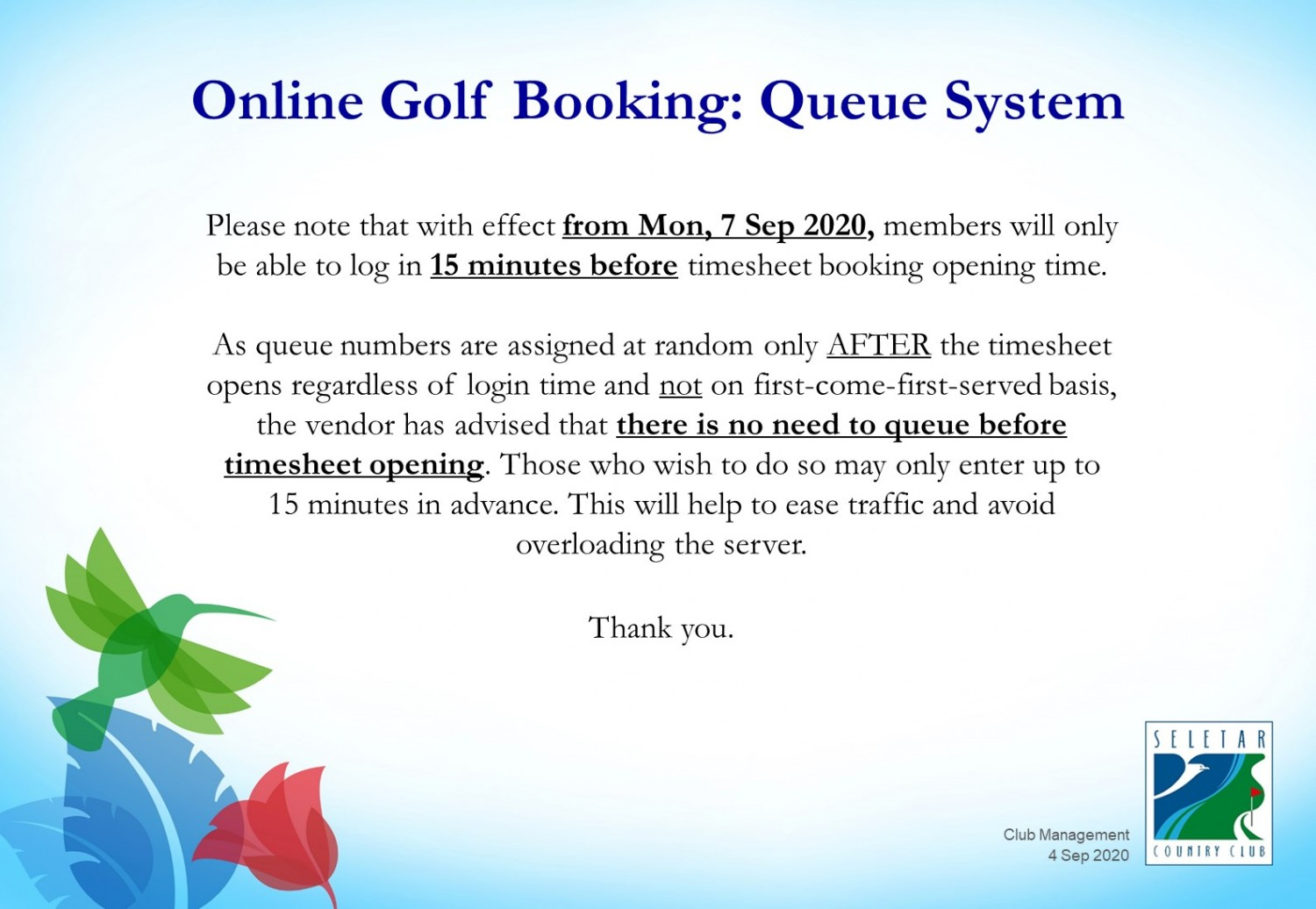 Golf online booking system-2