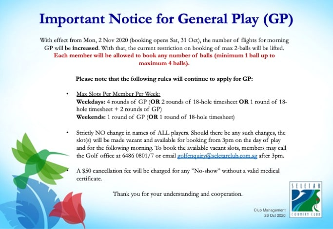 Important Notice for GP_26Oct