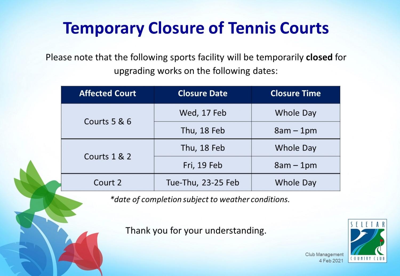 Closure of tennis courts_rev