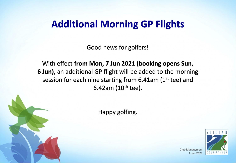 Additional AM GP flights