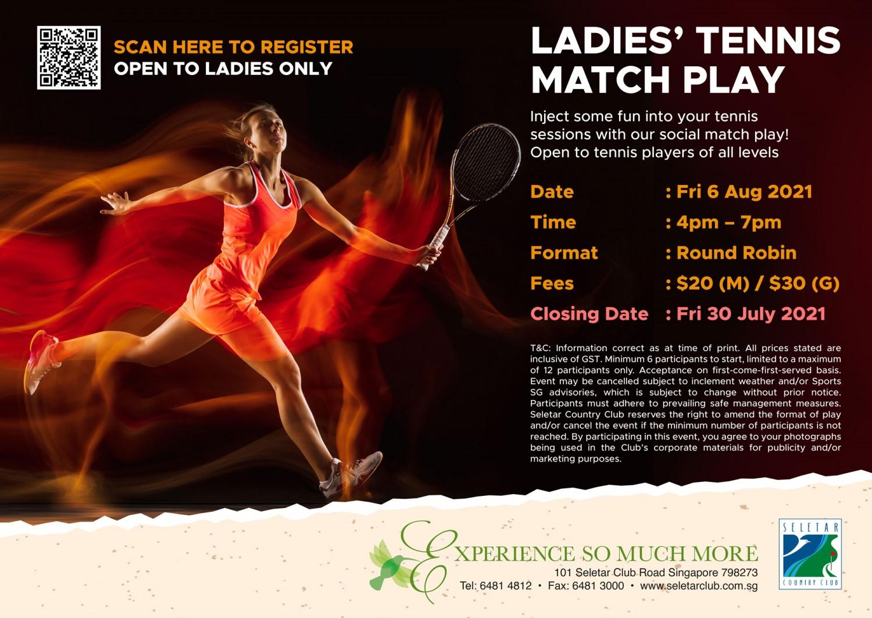 Ladies Tennis Match Play